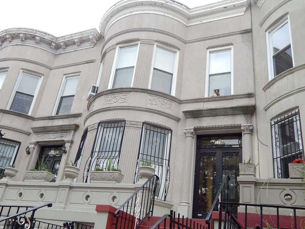 greco-romanesque facade on union st townhouse for sale in crown heights