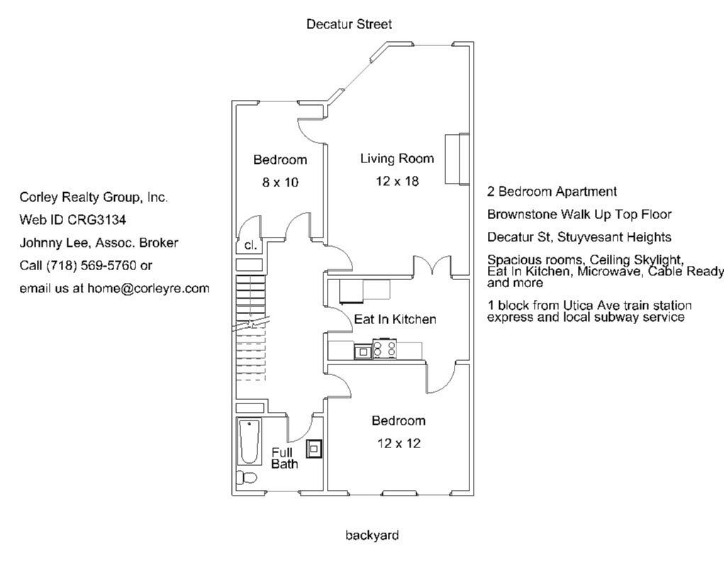 2br apt for rent on decatur st stuyvesant heights brooklyn crg3134