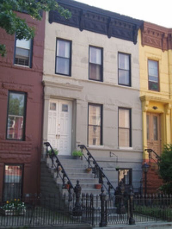van buren st 2 family brownstone townhouse for sale bed stuy crg1005